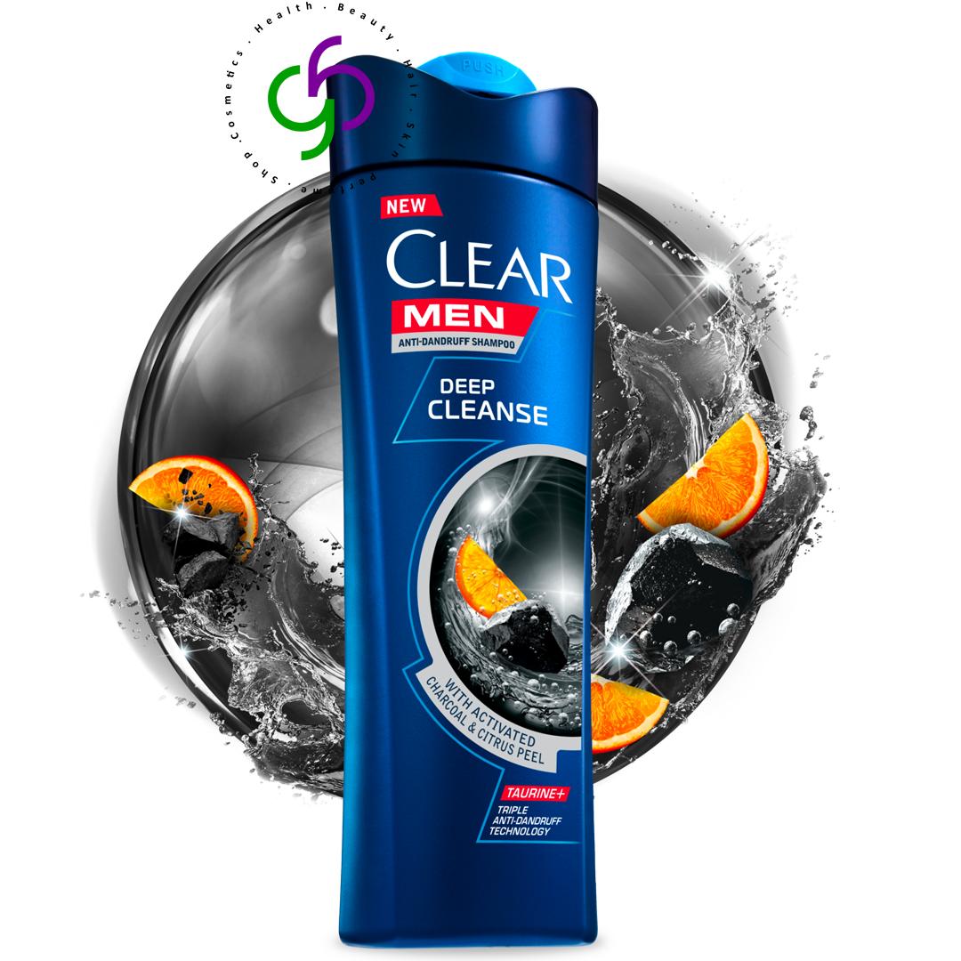 شامپو کلیر Clear ضد شوره زغال و لیمو مدل Deep Cleanse